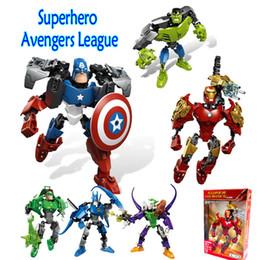 Batman Blocks Australia - Hot Sale Child Assembling Toys Super Hero Avengers Batman Iron Man Captain America Kids Building Blocks Toys