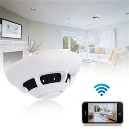 wholesale smoke detector wifi camera NZ - Wireless wifi P2P IP Camera Smoke Detector Network Camera Digital Video Recorder Indoor DV Security Camcorder for Home Kids Remote View