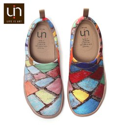 Canvas Shoe Painting Designs Australia - UIN Time Design Women Sneakers Painted Canvas Shoes Mixed Colors Slip-on Travel Flats