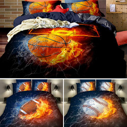 3pcs 3d Football Bedding Set Sports Stadium Print Duvet Cover Set Soccer Fans Gifts Bedroom Decor Soft Bedclothes Pillowcase D25 Home & Garden Home Textile