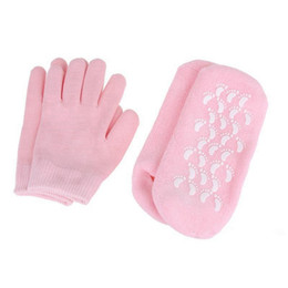 spa socks Australia - Silicone Sock Glove Reusable SPA Gel Moisturizing Socks Gloves Whitening Exfoliating Treatment Smooth Beauty Hand Mask Feet Care EEA1648