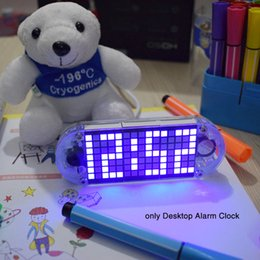 $enCountryForm.capitalKeyWord Australia - Touch Key High Acrylic Dot Matrix High Brightness Alarm Clock Colorful LED Display Multifunction DIY Home Square