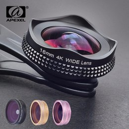 $enCountryForm.capitalKeyWord Australia - Apexel Pro 16mm 4k Super Wide Angle Lens With Cpl Filter 2 In 1 Hd Universal Clip Camera Lens Kit For Iphone Xiaomi Samsung Lens J190704