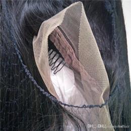 Wig Dhl NZ - Human Hair Full Lace Wigs Brazilian Straight Hair Frontal Lace wig Virgin human hair 150 180 density For Black Women, 1 piece Lot, Free DHL