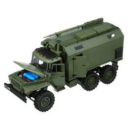 Green Truck Cars Australia - High Quality WPL B36 Ural 1 16 2.4G 6WD Rc Car Military Truck Rock Crawler Communication Vehicle RTR Toy Green