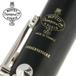 Buffet Crampon Paris Clarinete Bb Profissional CONSERVATOIRE Buffet Baquelite Clarinete Bocal Acessórios Case venda por atacado