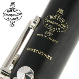 Großhandel Buffet Crampon Paris Professionelle B-Klarinette CONSERVATOIRE Buffet Bakelit-Klarinette-Mundstück Zubehörkoffer