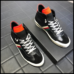 Quality Lace Luxury NZ - The latest designer luxury men's casual shoes high quality high-top flat shoes fashion men's casual sports lace original box packaging