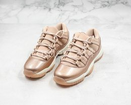 China 2019 11 navy rose Gold snakeskin causal women shoes Bred Concord Georgetown space jam GG 11s Chaussures Cherry Casual Sneakers suppliers