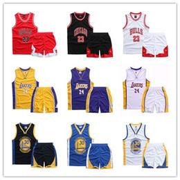 Nouveau 2019 Garçons Filles D'été Gilet De Basketball Jersey Enfants Respirant Et À Séchage Rapide Combinaison De Sport Enfants Casual Vêtements De Sport en Solde