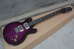 guitar stock NZ - Free shipping Wholesale - custom 24 Purple color Purple Private Stock McCarty Violin Guitar in stock.