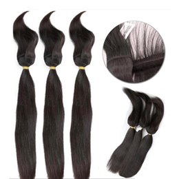24 Inch Human Weft Braiding Hair UK - Brazilian Virgin Straight Hair Braids in Weaves Braid in Bundles Human Hair Bundles Unprocessed Top Quality Hair Extensions 10-30 inch