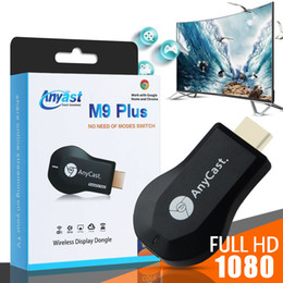 Wholesale M9 Plus HD TV Stick AnyCast per Chromecast Youtube Netflix 1080P Wireless WiFi Display TV Dongle ricevitore DLNA Miracast per Tablet PC del telefono