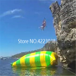 beds jump NZ - Free Shipping 8*3m Bouncing Pillows Floating Beds Inflatable Jumping Pillow Water Blob Inflatable Trampoline free a Pump