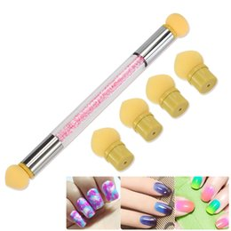 $enCountryForm.capitalKeyWord Australia - Nail Art Gradient Pen Light Therapy Spotting Tool Pen Painted Double Head Sponge Can Be Replaced Light Therapy Blooming