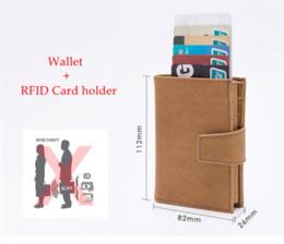 $enCountryForm.capitalKeyWord Australia - 2019 New Style RFID Card Holder Minimalist Wallet Metal Men Women card id holders Aluminium Blocking Holder for Cards