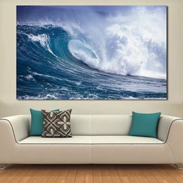 $enCountryForm.capitalKeyWord NZ - 1 Piece Paintings For Living Room Wall Paintings On Canvas Ocean Waves Oil Painting Wall Pictures No Frame