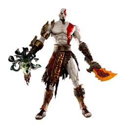 "God War Figures Australia - God Of War 1pcs 7 .5 ""Neca God Of War Kratos In Golden Fleece Armor With Medusa Head Pvc Action Figure Collection"