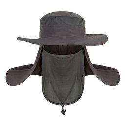 face covering hats Australia - Summer Hat UV Protection Face Neck Fishing Cover Sunscreen Cap Hats Chapeu Feminino
