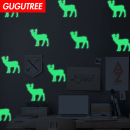 $enCountryForm.capitalKeyWord Australia - Decorate Home Diy deer cartoon art glow wall sticker decoration Decals mural painting Removable Decor Wallpaper G-584
