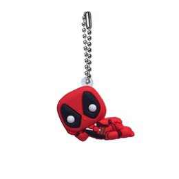 school clothes for boys 2019 - MOQ=20pcs Deadpool Ball Chains Keychains for School Bags Clothing Car Key Holder Accessories Fashion Hang Decorations Or