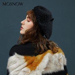 Girls flashinG online shopping - Women s Hair Berets Flashing Rhinestone Winter Hat Female Trendy Beret Knitted Beanies Solid Color For Girls Warm Bonnet