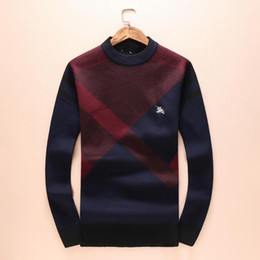 09032d5fd89 Long Hair Sweater NZ - Hot Autumn And Winter Sweater Male High Archives  Round Neck Lattice