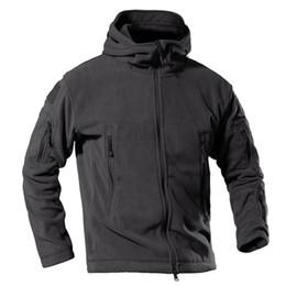 Army combAt coAt online shopping - Fleece Jacket Men Winter Warm Hooded Tactical Jacket Style Army Combat Coat Hoodie Windbreaker Parka PLY
