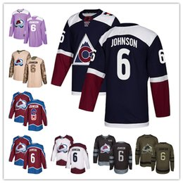 fb18871e7 Colorado Avalanche jerseys  6 Erik Johnson Jersey hockey men women youth  Burgundy Red home white away Navy Blue Alternate stitched Jerseys