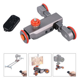 Camera Dolly Wheels Australia - Freeshipping Autodolly Wireless Remote Motorized electric Track Slider Dolly 3-Wheel Car DSLR Video Pulley Rolling Skater camera