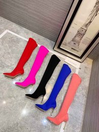 $enCountryForm.capitalKeyWord Australia - nx720 New Fashion Sexy Women Over Knee Long Winter 100% Genuine Leather Five Colors Thigh High Boots Woman shoes Sheepskin Suede Med Heel
