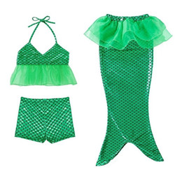 Discount child girl suit design - New Arrival Kids Swimsuit Quality Girl Swimwear Teenagers Two-pieces Mermaid Design Bath Suit Europe Popular Children Be