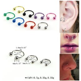 $enCountryForm.capitalKeyWord Australia - 8mm Colorful Stainless Steel Ear Piercing Nostril Nose Hoop Stud Ring Clip on Nose Woman Man Punk Sexy Body Jewelry