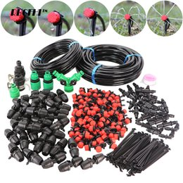 garden drip irrigation kits UK - RBCFHI 5-30M Garden DIY Drip Irrigation System 8 11 4 7 Hose Plant Watering Kit With 360 Degree Adjustable Dripper Sprinklers T200530