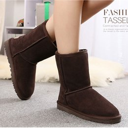 white snow boots for kids 2019 - Youth Shoes Snow Boots for Adult Sizes Genuine Leather Snow Boots Faux Fur Boots for Winter Youth Footwear Kids Shoes US