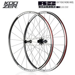 KOOZER RS1500 Road Bike 700C Wheelset Front 2 Rear 4 Bearing 72 Ring 21MM Rim 2:1 Spoke Wheels from carbon fiber fixed gear bike wheel suppliers