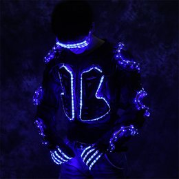 $enCountryForm.capitalKeyWord UK - P81 Ballroom dance led light costumes RGB light dj led glasses robot men suit armor outfits bar dress glowing clothe gloves led party show