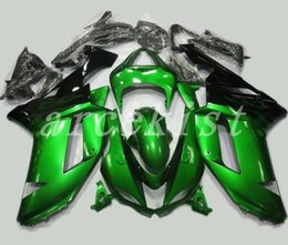 Custom Zx636 Australia - TOP quality New ABS motorcycle Fairings kits fit for kawasaki 07 08 ZX 6R 636 2007 2008 Ninja ZX6R ZX636 fairing set custom black green