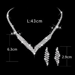 necklace crystal jewelry Australia - 20 sets lot,Women's Inlaid Austria Crystal Bride Necklace Earring suit Use brand Crystal Glittering Evening Party Elegant not fade jewelry