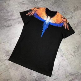 Wholesale New Angel Wings Designer T Shirts Hip Hop Mens Designer T Shirts Fashion Brand Mens Womens Short Sleeve S XXL