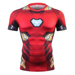 $enCountryForm.capitalKeyWord UK - New Summer Marvel Avengers 3D Printed Ironman T Shirt Men Compression Crossfit Short Sleeve Men T-Shirt Fashion Fitness Clothing