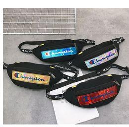 Packing belt straP online shopping - Laser Fanny Packs C letter Crossbodys Belt Waist Bag Mesh Patchwork Chest Shoulder Bags Adjustable Strap Handbags Sports Totes MMA1972