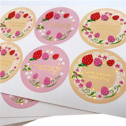 $enCountryForm.capitalKeyWord Australia - 400pcs lot kawaii sweet paper adhesive DIY decorative gifts seal sticker package label for baking products wholesale