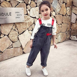 clothes for years old Australia - Kids Children Girls Clothes Denim Hole Jumpsuit Overalls Playsuit For Teen Girls Blue Jeans 4 5 6 7 8 9 10 12 13 14 Years Old