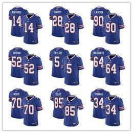Buffalo Jersey Bills 17 Josh Allen 27 Tre Davious White 49 Tremaine Edmunds  95 Kyle Williams 25 LeSean McCoy 34 Thurman Thomas Jersey 589599537