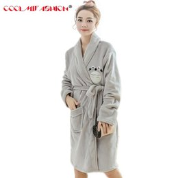 Girl s Bathrobe Thick Winter Flannel bridesmaid Robes Set Cute Totoro  Character Animal Nightgown DuckHome clothing Pajama Femme 223a0c256