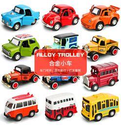 $enCountryForm.capitalKeyWord Australia - Alloy Trolley Music Light Back Force Car Inertial pull back Truck Bus Racing Toy SUV Car Vehicle toy Boy Girls Gift kids Present