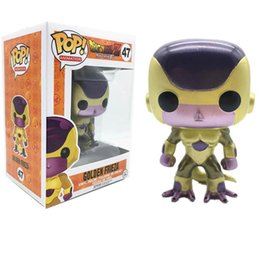 Discount frieza figures - Funko POP New Arrival Dragon Ball Golden Frieza Action Figure Dolls Collection Figure Model Toys For Birthday Gifts HD