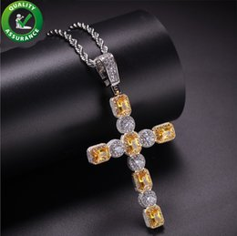 Discount designer mens chains - Iced Out Chains Hip Hop Jewelry Designer Necklace Pandora Style Charms Mens Cross Pendant Luxury Micro Paved CZ Diamond