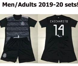 $enCountryForm.capitalKeyWord NZ - Men 2019 2020 black mexico soccer jerseys shirt shorts set Camisas football kits mexico Camisetas futbol Mexican maillot de foot